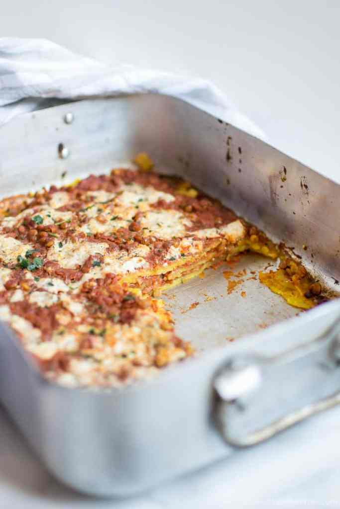 Easy quick Gluten free vegan lasagna