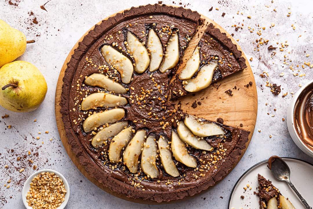 crostata con frolla al cacao senza glutine e burro