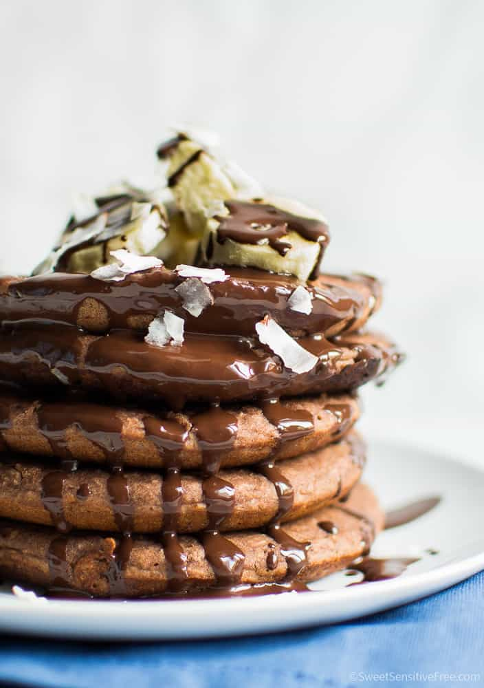 glutenfree chocolate pancakes without eggs butter