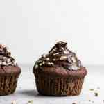 Gluten free Vegan Chocolate Hazelnut Rum Cupcakes