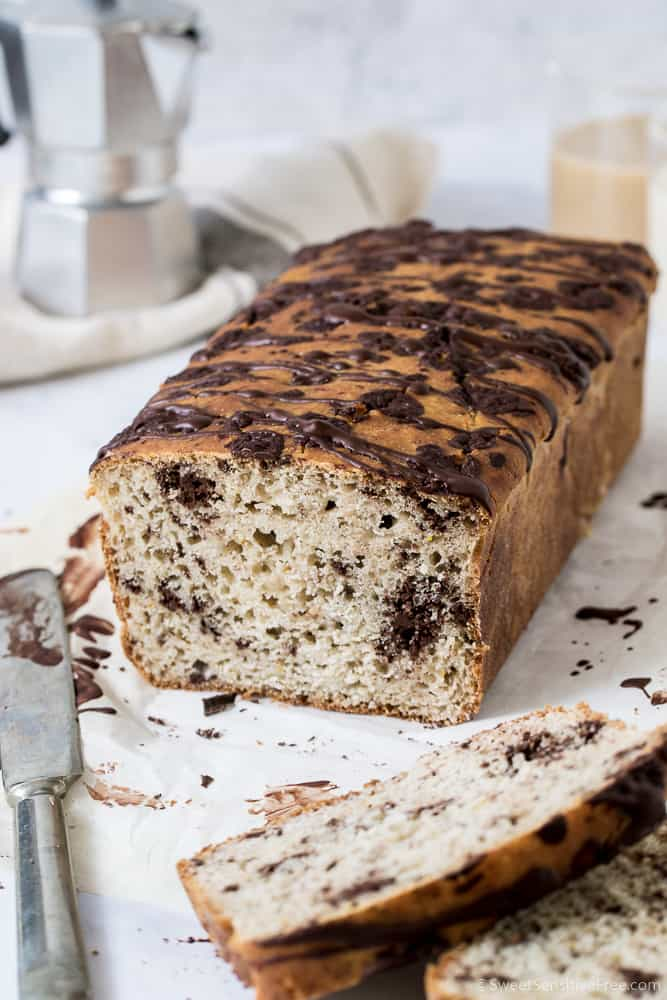 gluten free vegan chocolate chip bread