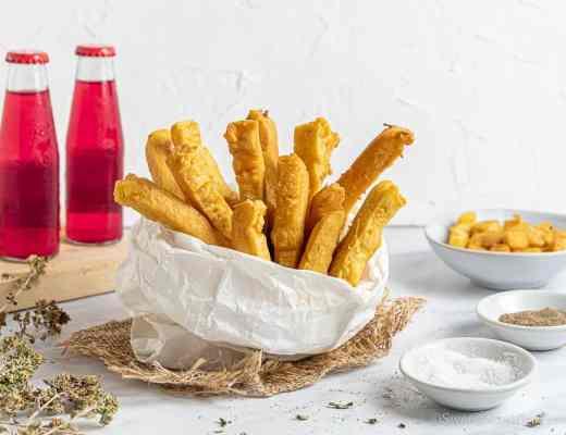 fried chickpea flour sticks
