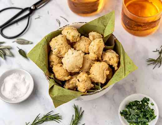 gluten free savory fritters for aperitif
