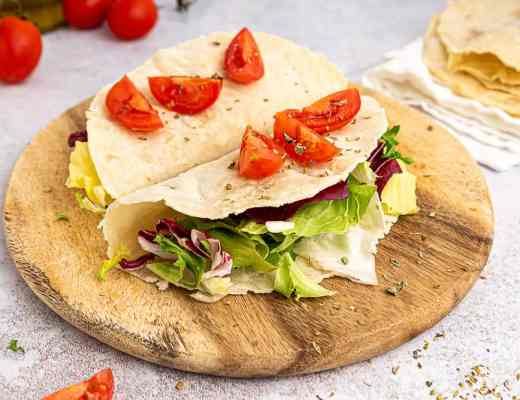 Vegan gluten free tortillas