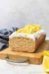 vegan gluten free lemon cake with coconut cream