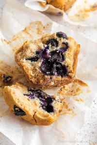sliced vegan gluten free muffins