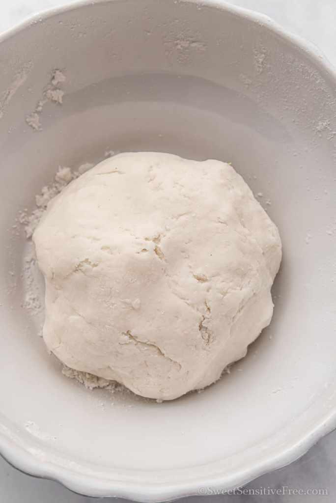dough ball for gluten free chinese dumplings