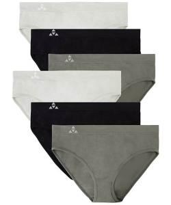 Balanced tech women's seamless hipster brief bikini panties, best moisture wicking underwear women's, best panties for workouts