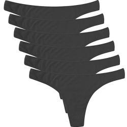 ELACUCOS breathable cotton thong for ladies, bikini panties, best moisture wicking underwear women's