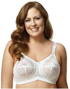 Elila plus size full coverage bra, best wirefree bra for plus size, best wireless laced bra, best full support wireless bra