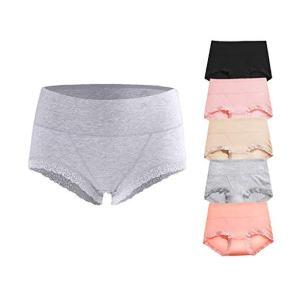 OPIBOO Soft Cotton Underwear Panties, Mid to High Waist Briefs, most comfortable women's underwear, best underwear for women's health