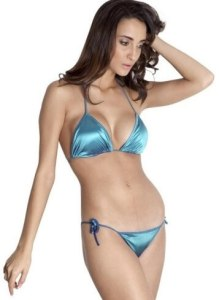 Lingerie made of satin material