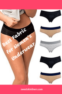 a set of cotton underwear for women, one of the best fabric for women's underwear