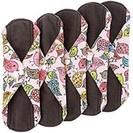 Sanitary Reusable Cloth Menstrual towels made by Heart Felt, Best Reusable Postpartum Pads