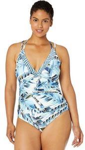 Women's Plus Size Underwire Cross Back One Piece Swimwear by La Blanca, best swimsuits for large bust