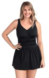 best plus size tummy control swim dress made by PERONA