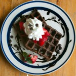 Light and Airy Chocolate Waffles
