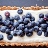 Lemon Cream & Blueberry Tart