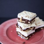 Brownie Saltine Ice Cream Sandwiches