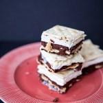 Brownie Saltine Ice Cream Sandwiches