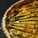 Asparagus, Red Pepper and Sweet Corn Quiche