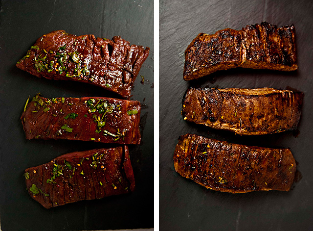 marinated flank steak with feta // sweetsonian