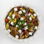 Chicken with Roasted Mediterranean Vegetables