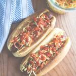 Sriracha Broccoli Slaw Hot Dogs