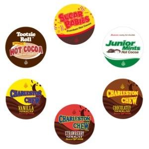 Sugar Babies, Tootsie Roll, Junior Mint, and Charleston Chew Hot Cocoa