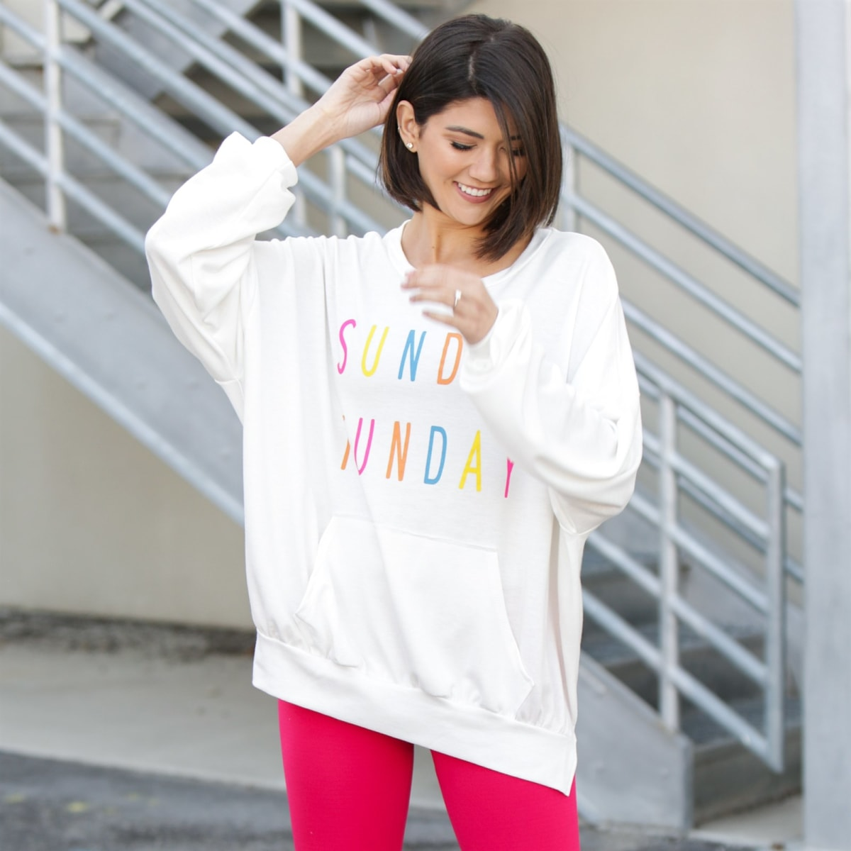 Graphic Print Pullover Collection   Free Shipping