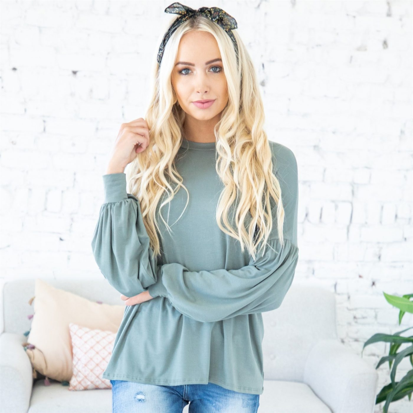 Was $49.99 - Now $23.99 - Valeria Bubble Sleeve Tunic | Free Shipping (10/16 to 10/18)