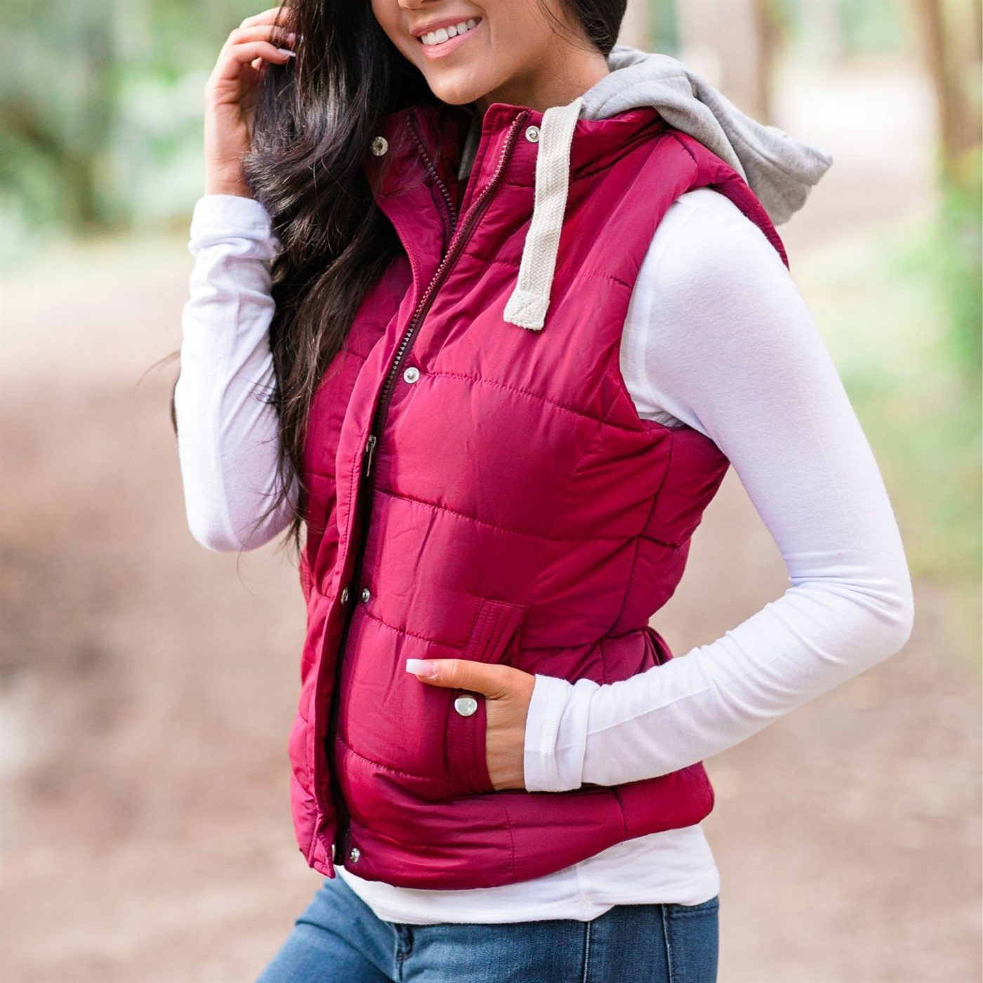 Was $54.99 - Now $26.99 - Quilted Padded Hooded Vest | Free Shipping (10/15 to 10/17)
