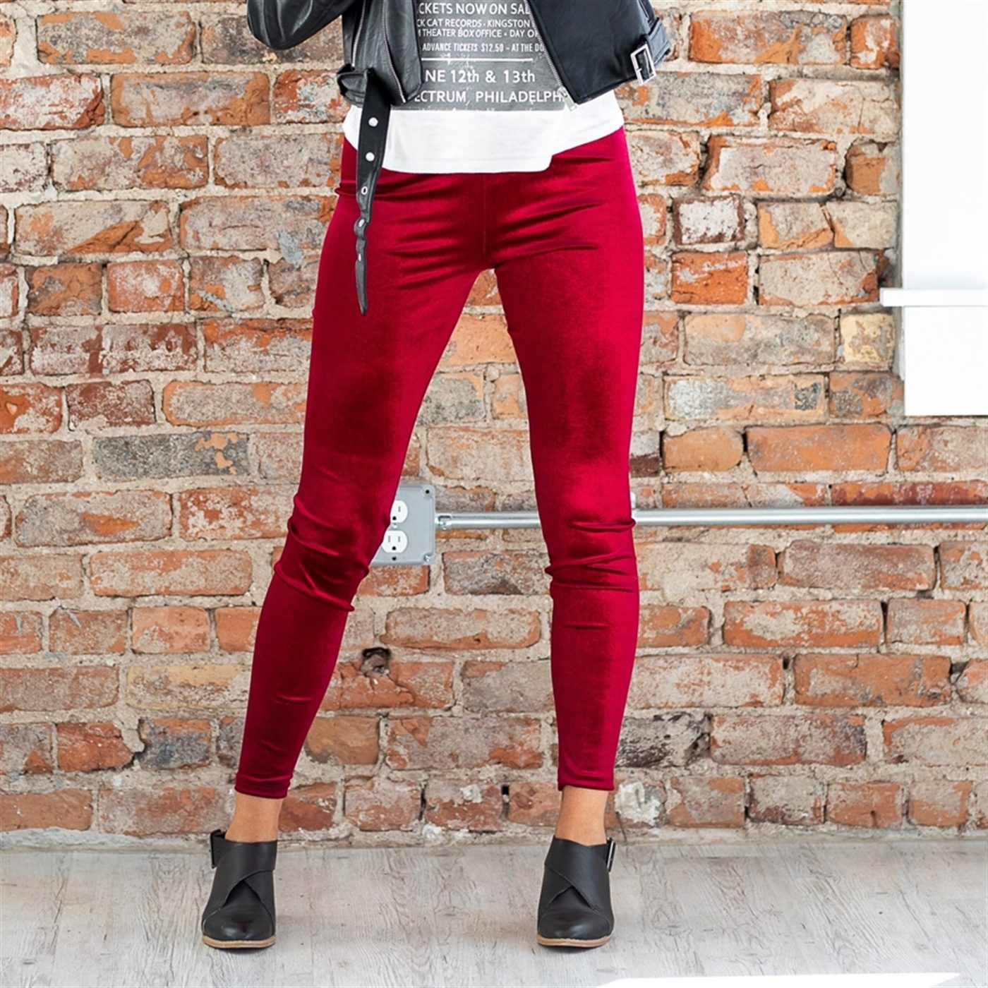 Was $29.99 - Now $12.99 - Velvet Leggings | Free Shipping (10/15 to 10/17)