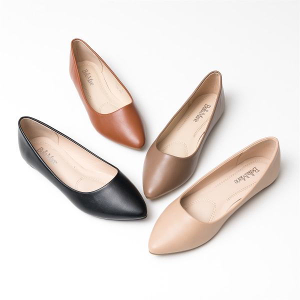 Smooth Pointy Ballet Flats | Free Shipping