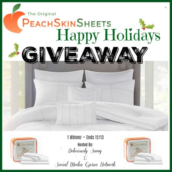 🎄 Enter and you could #WIN a set of PeachSkinSheets in your choice of size and color when this #SMGN Holiday Gift 🎁 Guide #Giveaway ends 12/13. @SMGurusNetwork @PeachSkinSheets