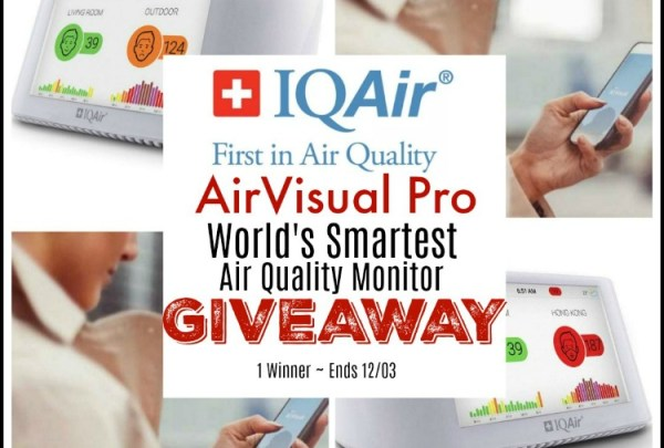 🎄 Enter and you could #WIN an IQAir💨 AirVisual Pro ~ World's Smartest Air Quality Monitor when this #SMGN Holiday Gift 🎁 Guide #Giveaway ends 12/03. @SMGurusNetwork @IQAir