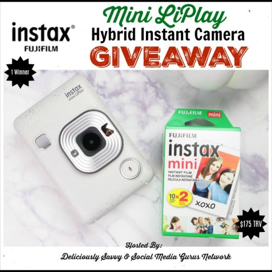 🎄 Enter and you could #WIN an Instax Mini LiPlay Instant Hybrid Camera worth $175 when this #SMGN Holiday Gift 🎁 Guide #Giveaway ends 12/22. @SMGurusNetwork @Instax