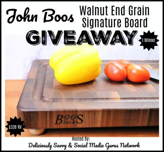 🎄 Enter and you could #WIN a John Boos Co. Walnut End Grain Signature Board when this #SMGN Holiday Gift 🎁 Guide #Giveaway ends 12/25. @SMGurusNetwork @JohnBoosCo