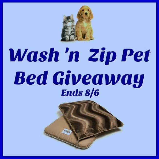 Wash n Zip Pet Bed Giveaway