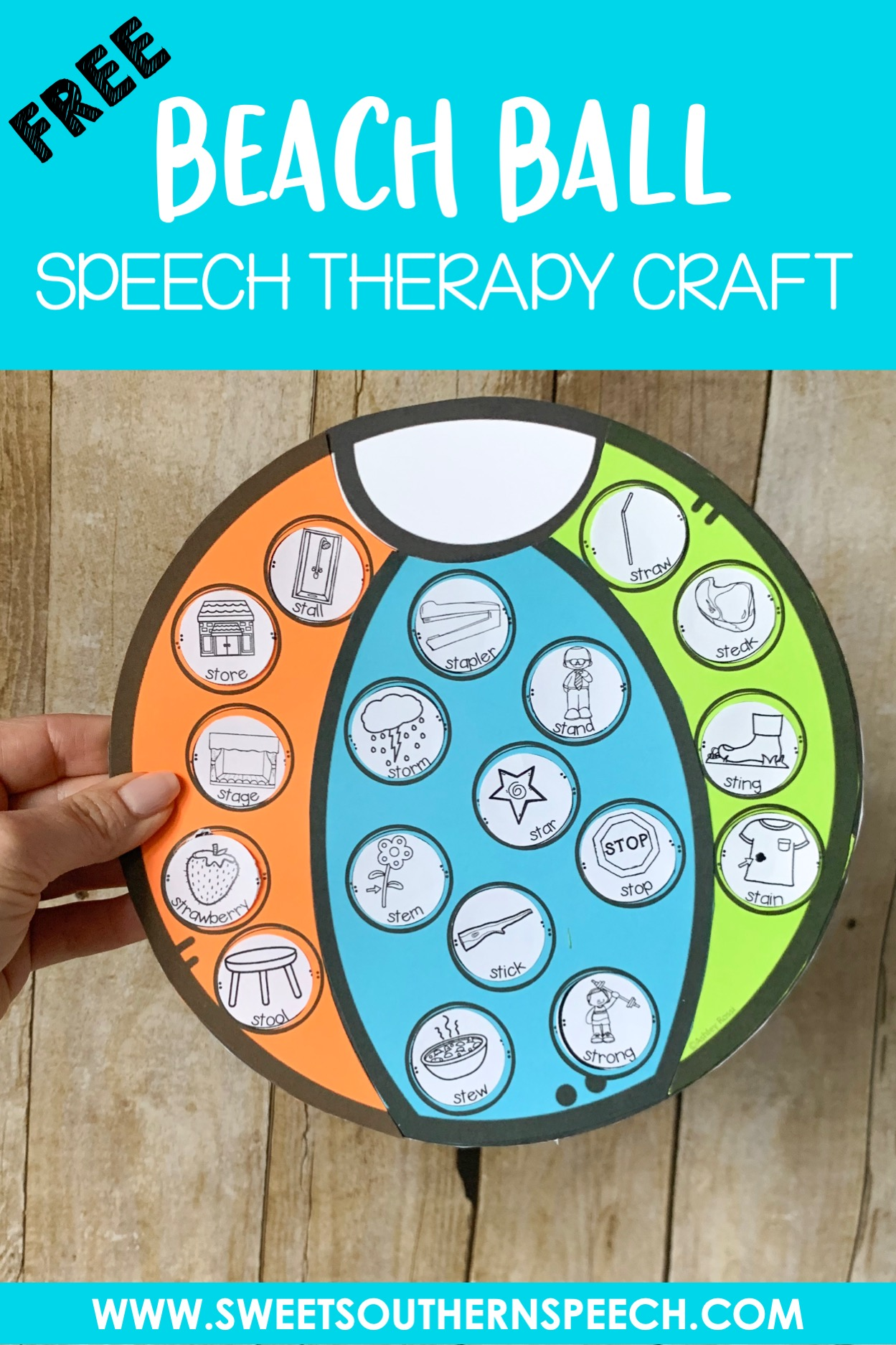 Beach Ball Craft Freebie For Speech Therapy