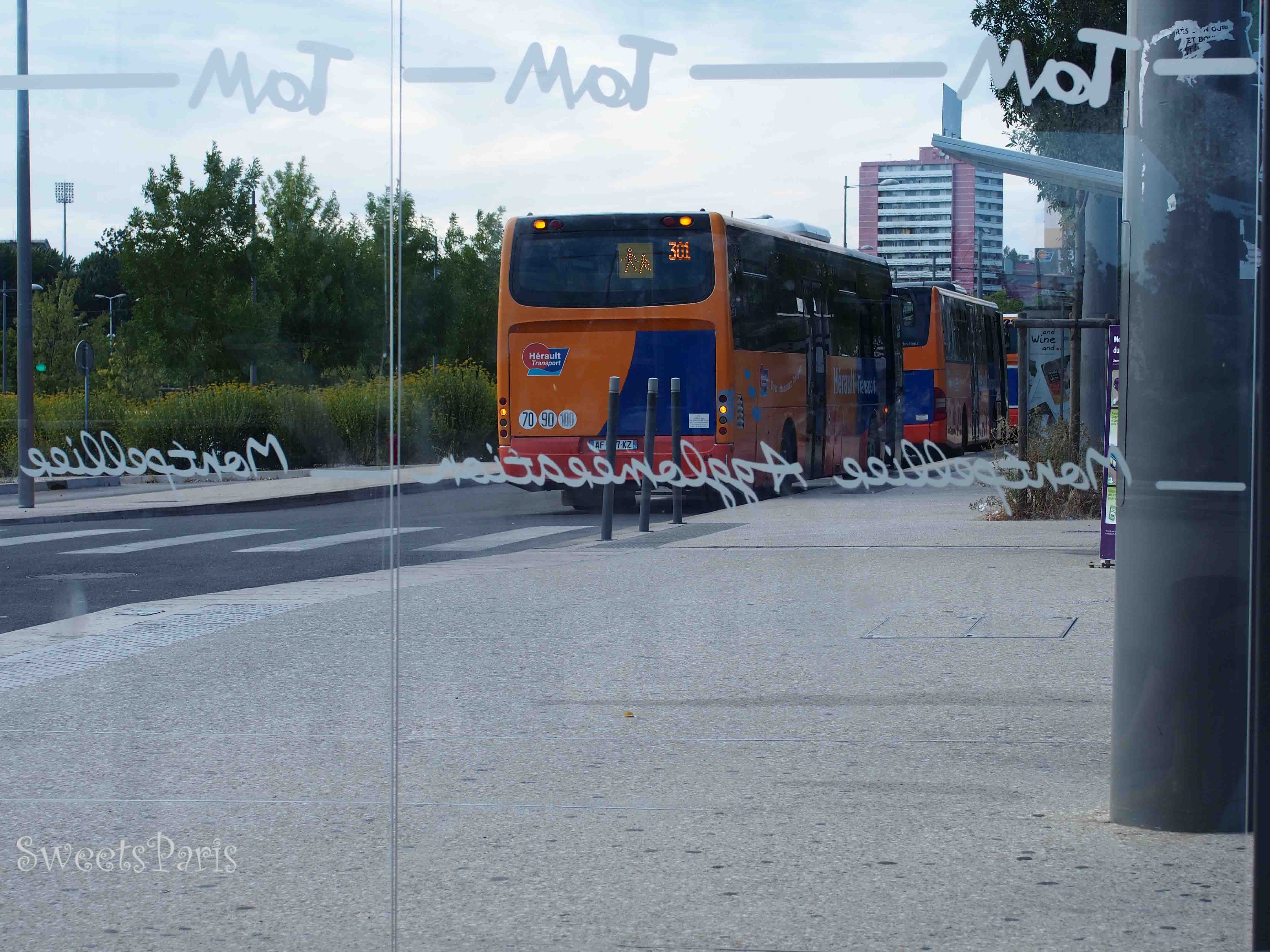 モンペリエのバス乗り場