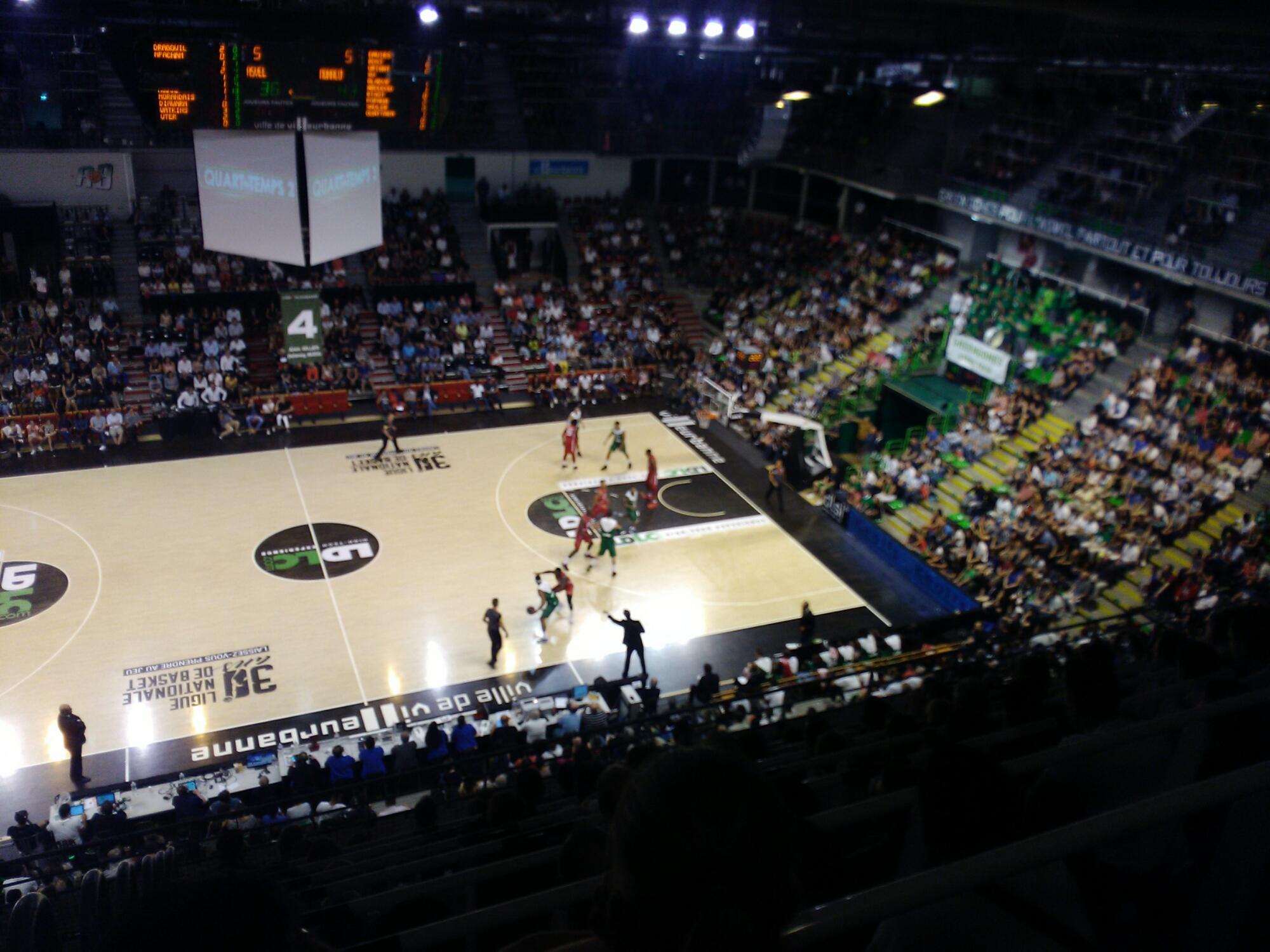 リヨンでバスケットボール観戦!*ASVEL Lyon-Villeurbanne