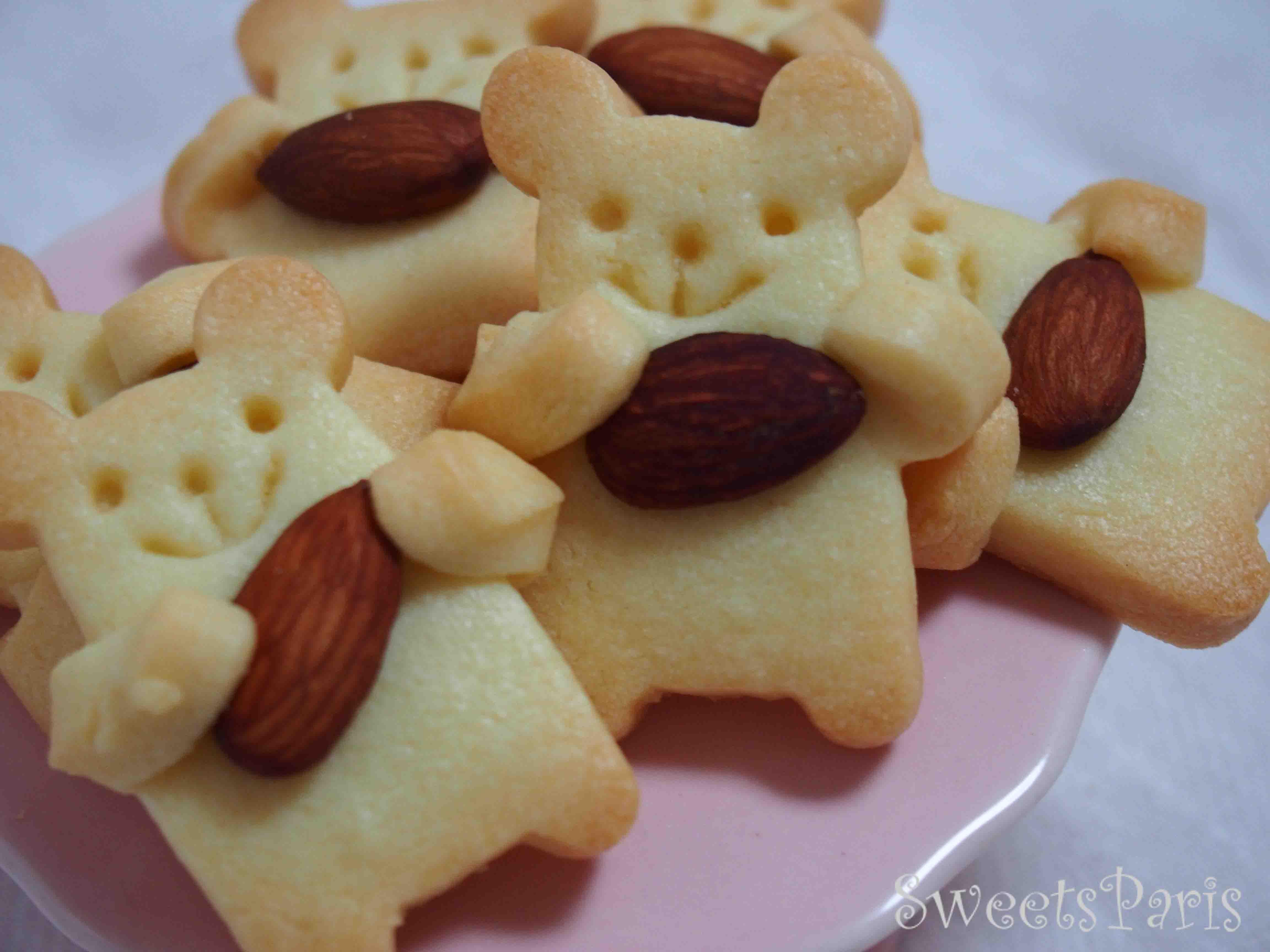 プレゼントに最適!くまの型抜きクッキーの作りかた*Recette de Sablé