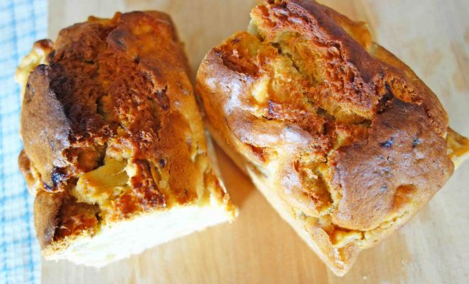 星5つのレシピで作ってみた!りんごとバナナのケーキ