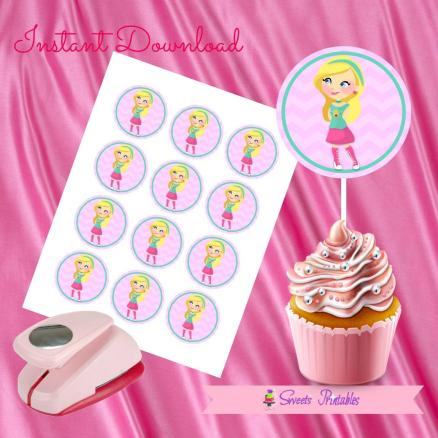 BARBIE CUPCAKE TOPPERS 2- IMAGEN PROMO