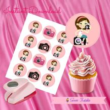 CAMERA DOLL CUPCAKE TOPPERS 2- IMAGEN PROMO