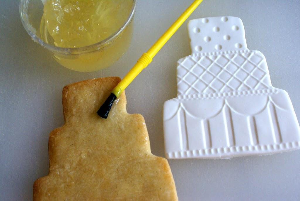Embossed Fondant Wedding Cookies