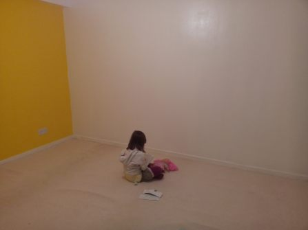 One of the controversial yellow walls