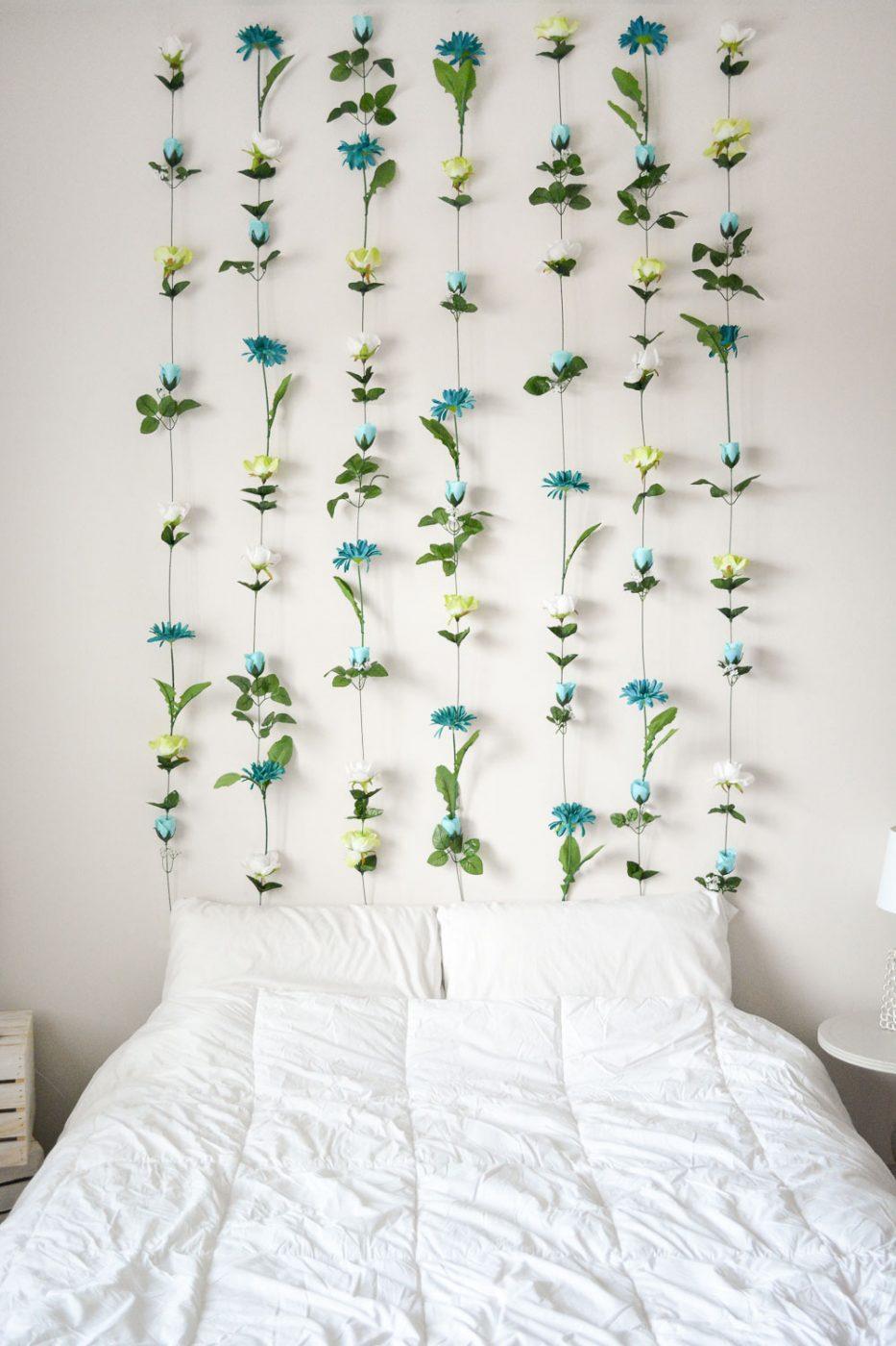 DIY Flower Wall // Headboard // Home Decor | Sweet Teal on Wall Decoration  id=33070