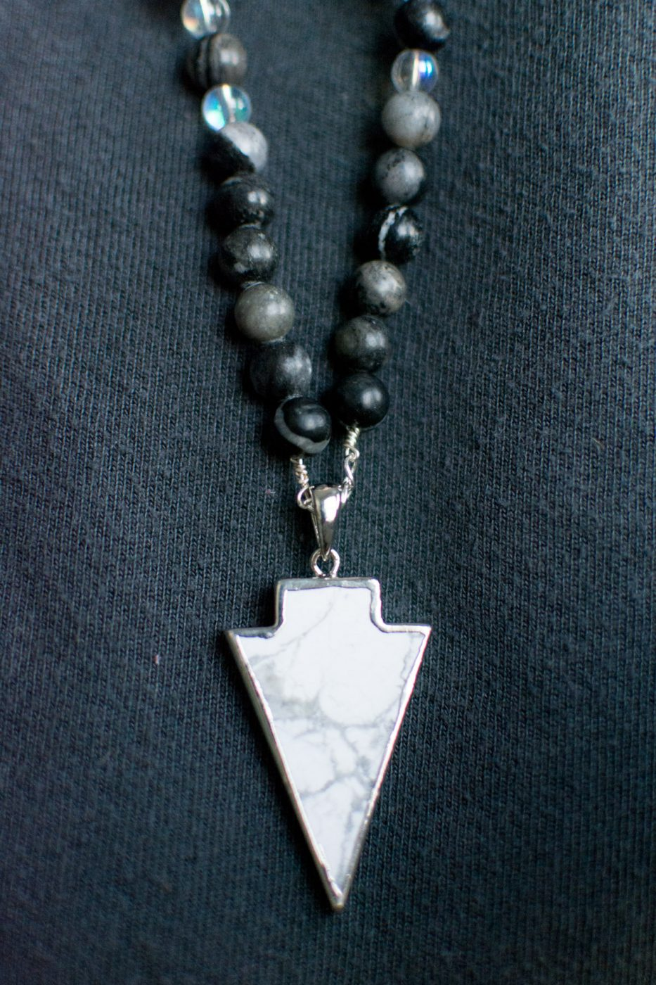 Marble arrow charm from DIY Beaded Necklace by Jenny Bess of Sweet Teal